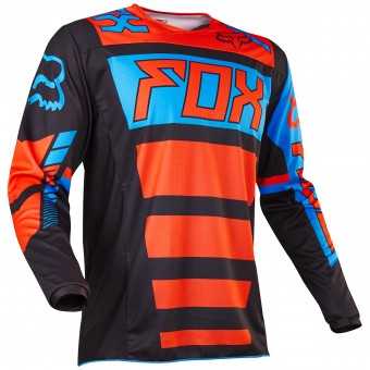 Maillot Cross FOX 180 Falcon Black Orange Enfant 016