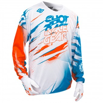 Maillot Cross SHOT Devo Capture White Orange