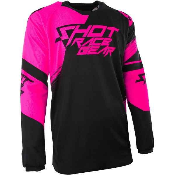 Maillot Cross SHOT Contact Claw Neon Pink