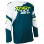 Maillot Cross SHOT Contact Claw Teal Blue Yellow