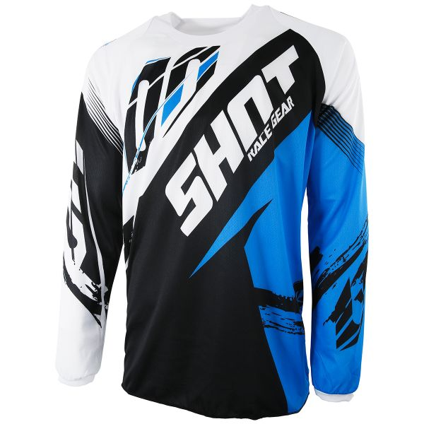 Maillot Cross SHOT Contact Fast Blue