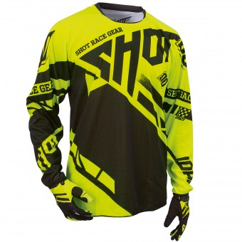 Maillot Cross SHOT Contact Raceway Neon Yellow