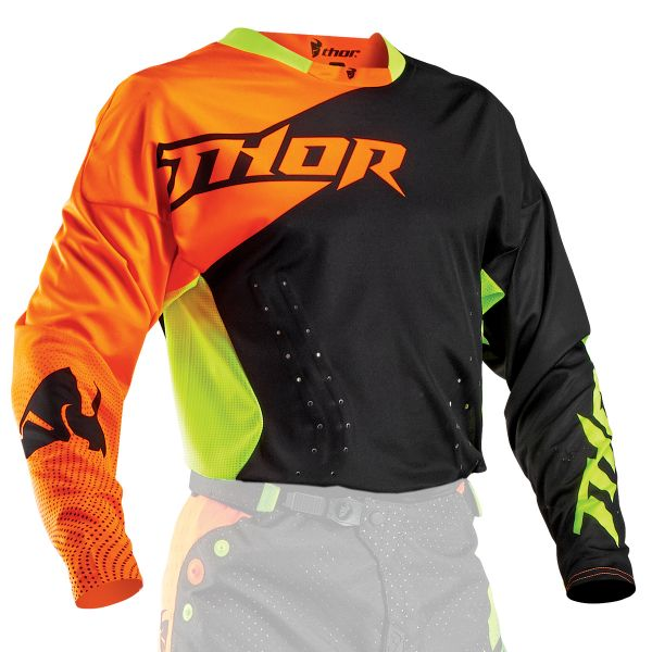 Maillot Cross Thor Core Air Divide Black Fluo
