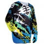 Maillot Cross Freegun Devo Beast Lime Blue Enfant