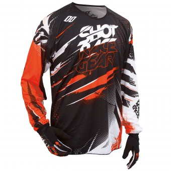 Maillot Cross SHOT Devo Capture Orange Enfant