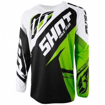 Maillot Cross SHOT Devo Fast Green Enfant