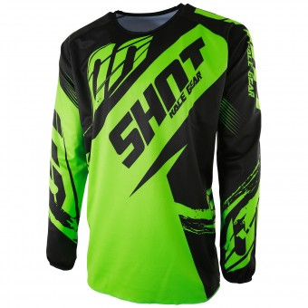 Maillot Cross SHOT Devo Fast Neon Green Enfant