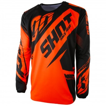 Maillot Cross SHOT Devo Fast Neon Orange Enfant