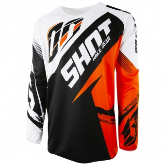 Maillot Cross SHOT Devo Fast Orange Enfant