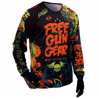 Maillot Cross Freegun Devo Iron Orange Green Enfant
