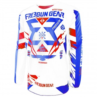 Maillot Cross Freegun Devo Trooper Blue Red Enfant
