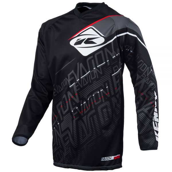 Maillot Cross Kenny Evasion Quad Black Shirt