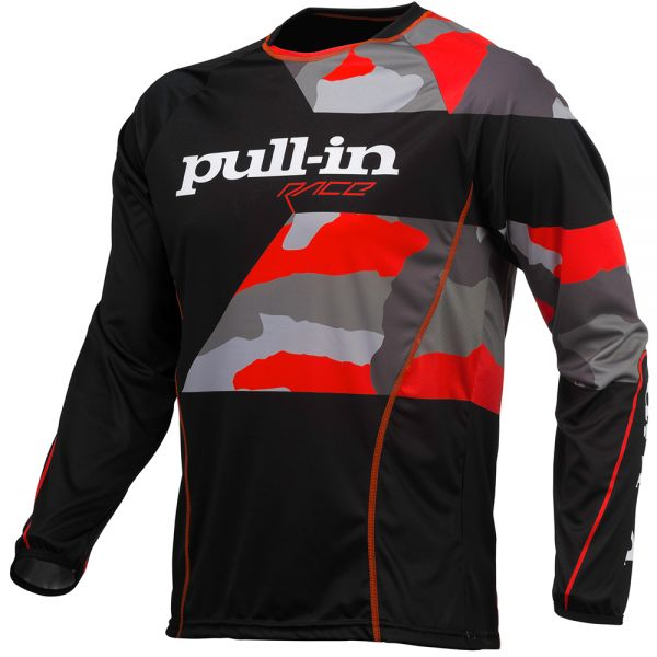 Maillot Cross pull-in Fighter Camo Black Orange
