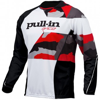 Maillot Cross pull-in Fighter Camo Black White Red