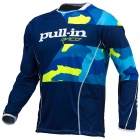 Maillot Cross pull-in Fighter Camo Blue Neon Yellow