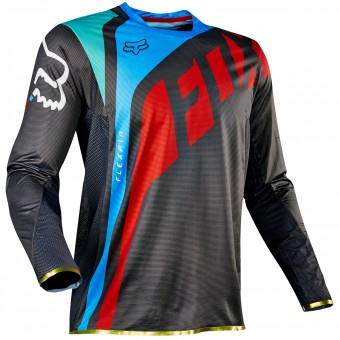 Maillot Cross FOX Flexair Seca Grey Red 037