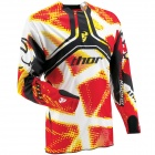 Maillot Cross Thor Flux Fiber Red Jersey