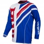 Maillot Cross pull-in Frenchy Blue White