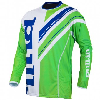 Maillot Cross pull-in Frenchy White Green