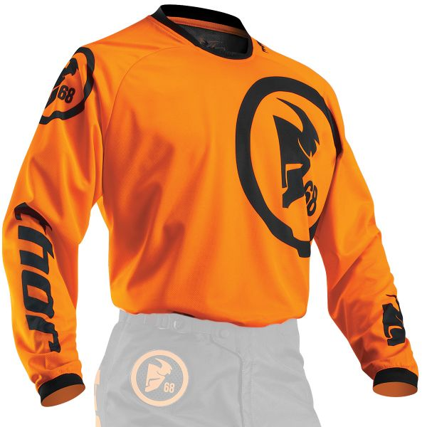 Maillot Cross Thor Phase Gasket Flo Orange Black