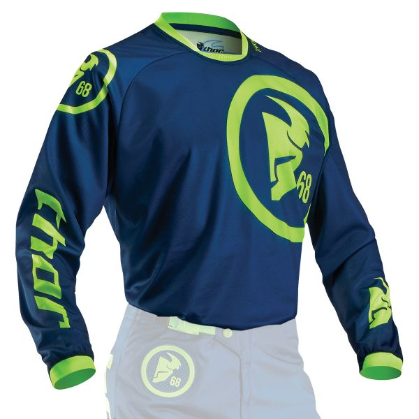 Maillot Cross Thor Phase Gasket Navy Lime Enfant