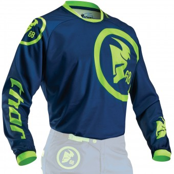 Maillot Cross Thor Phase Gasket Navy Lime