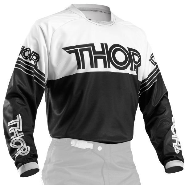 Maillot Cross Thor Phase Hyperion Black White
