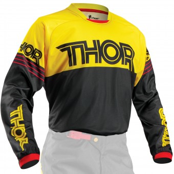 Maillot Cross Thor Phase Hyperion Black Yellow
