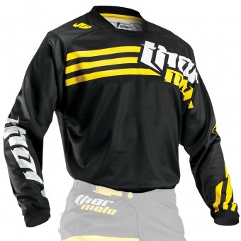 Maillot Cross Thor Phase Strands Black Yellow