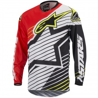 Maillot Cross Alpinestars Racer Braap Red White