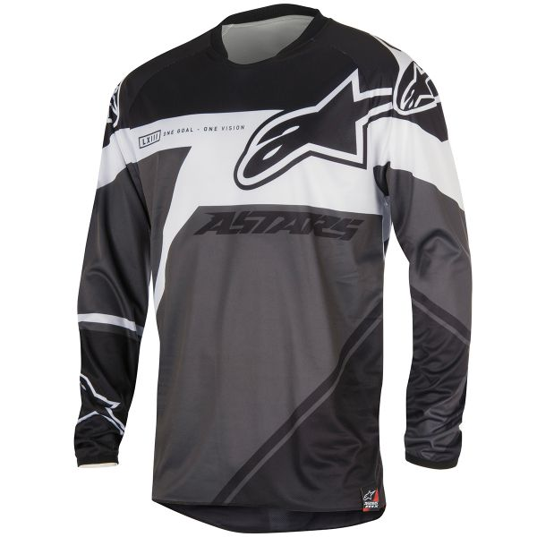 Maillot Cross Alpinestars Racer Supermatic Black White