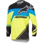 Maillot Cross Alpinestars Racer Supermatic Blue Yellow Enfant