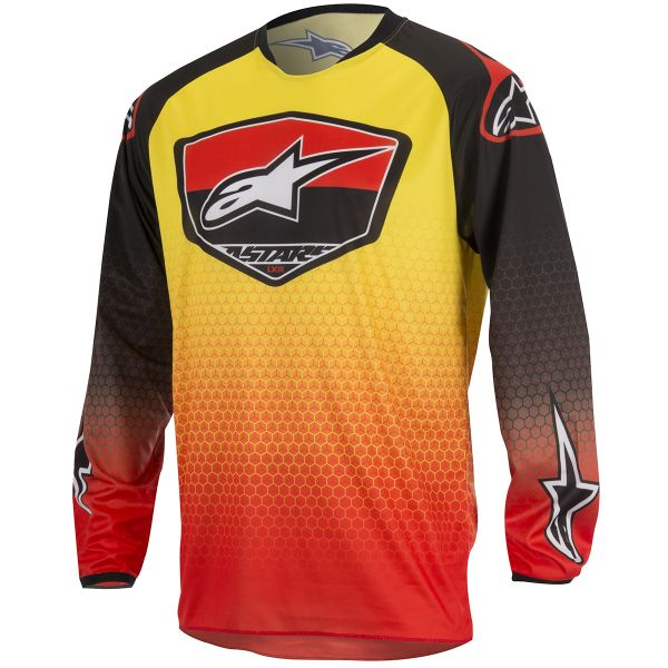 Maillot Cross Alpinestars Racer Supermatic Red Yellow
