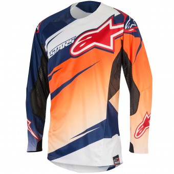 Maillot Cross Alpinestars Techstar Venom Orange Navy