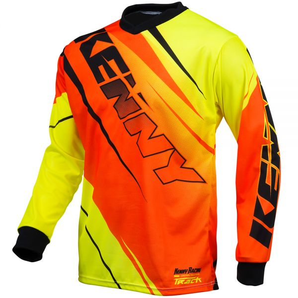 Maillot Cross Kenny Track Neon Orange Yellow Enfant