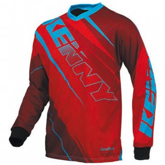Maillot Cross Kenny Track Red Blue