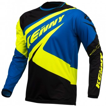 Maillot Cross Kenny Trial Up Blue Neon Yellow