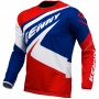 Maillot Cross Kenny Trial Up Blue White Red