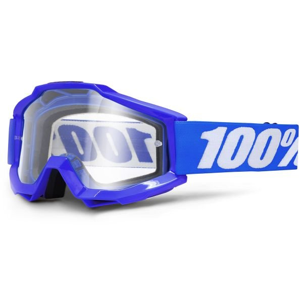 Masque Cross 100% Accuri Reflex Blue Clear Lean