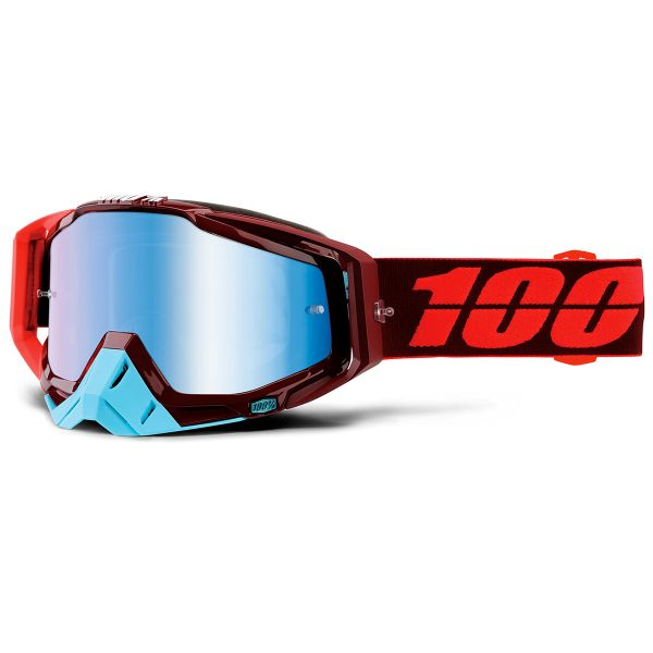 Masque Cross 100% Racecraft Kikass Mirror Blue Lens