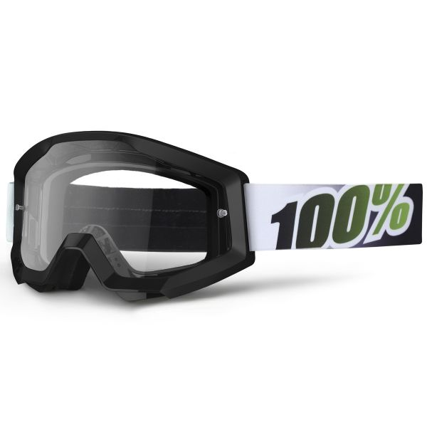Masque Cross 100% Strata Black Lime Clear Lens