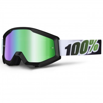 Masque Cross 100% Strata Black Lime Mirror Green Lens