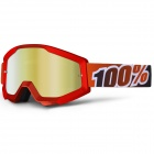 Masque Cross 100% Strata Fire Red Mirror Gold Lens
