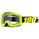 Masque Cross 100% Strata Neon Yellow Clear Lens