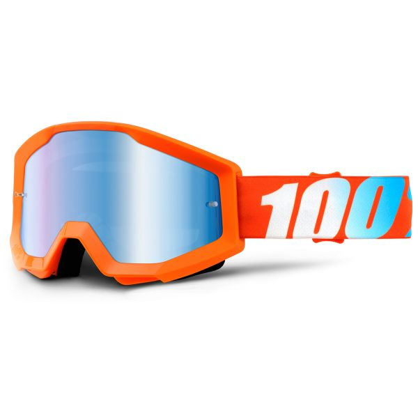 Masque Cross 100% Strata Orange Mirror Blue Lens