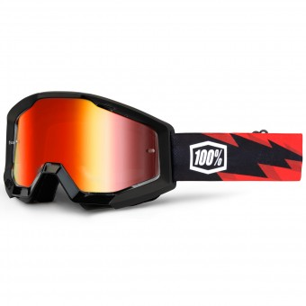 Masque Cross 100% Strata Slash Mirror Red Lens