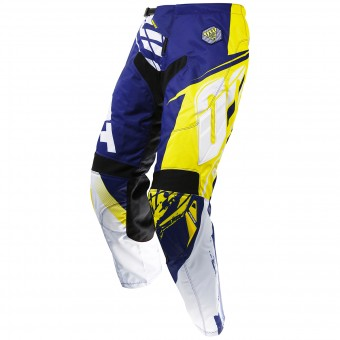 Pantalon Cross SHOT Contact Fast Blue Yellow Pant