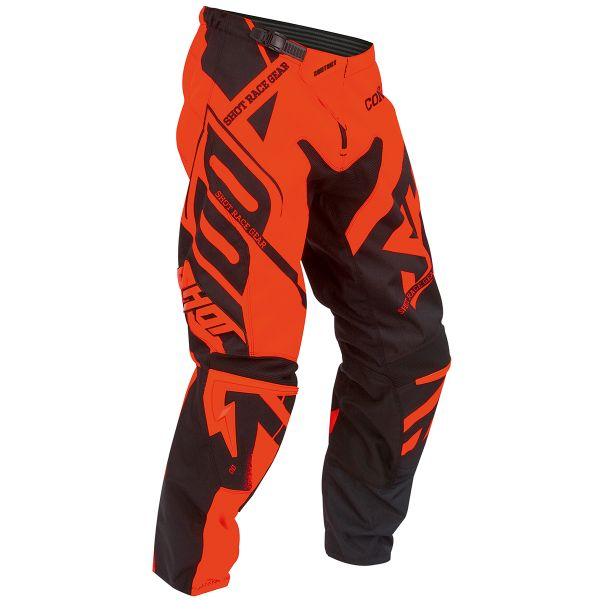 Pantalon Cross SHOT Contact Raceway Neon Orange Pant
