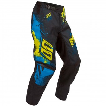 Pantalon Cross SHOT Devo Capture Blue Lime Pant Enfant