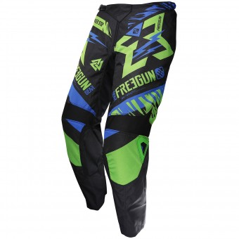 Pantalon Cross Freegun Devo Trooper Green Blue Pant Enfant